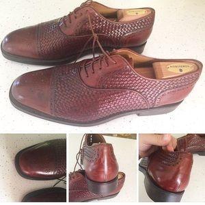 Men's Santoni dark brown woven shoes size 11.5